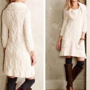 ANTHRO SLEEPING ON SNOW ivory Meli sweater dress